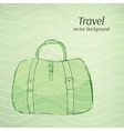 Travel background in retro green tints vector image