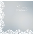 Abstract square lace frame with paper swirls vector image