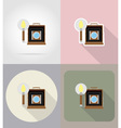 multimedia flat icons 10 vector image vector image
