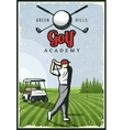 Colorful Retro Golf Poster vector image