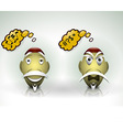 Happiness and Anger expression characters vector image vector image