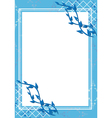 blue frame with white center and texture vector image vector image