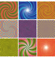 SET Abstract twirl background vector image vector image