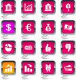 Money balloon icons vector image