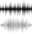 Halftone elements sound waves Music waveform vector image