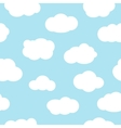 Blue sky with clouds seamless pattern vector image vector image