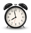 Black retro alarm clock isolated on white vector image
