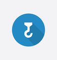 crane Flat Blue Simple Icon with long shadow vector image