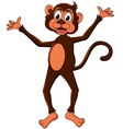 Cute monkey cartoon expression vector image
