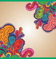 decorative element border card vector image