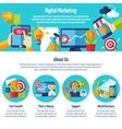 Digital Marketing Web Site vector image