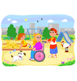 Girl on wheelchair with friends vector image