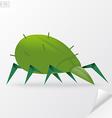 Green cartoon mite in vector image