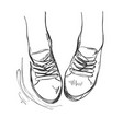 Hand drawn sneakers casual shoes vector image