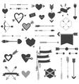 Hearts and Arrows Set vector image