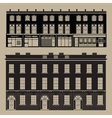 Monochrome english terrace houses vector image
