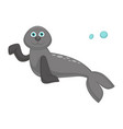 seal baby with big blue eyes and long flippers vector image