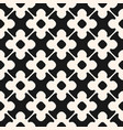 seamless pattern monochrome floral ornamental vector image