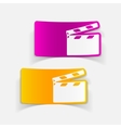 realistic design element clapper cinema vector image