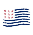 American wave flag Independence Day symbol vector image