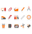 simple office tools icon vector image vector image