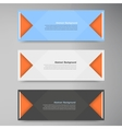 color banners Curve and paper origami vector image