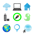 Set of network icons - icons vector image