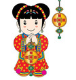 traditional costume vector image