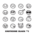 cute doodle style emoticons collection vector image