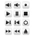 Sound music buttons set vector image