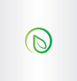 Bio leaf eco green nature logo icon vector image