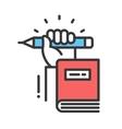 Education flat design single isolated icon vector image