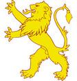 Heraldic lion rampart vector image
