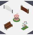 isometric street set of sitting carousel vector image