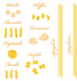 Pasta set vector image