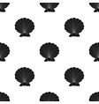 prehistoric seashell icon in black style isolated vector image
