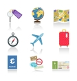 Set of colored travel icons vector image