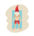 smiling santa claus on beach vector image