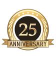 Twenty Five Year Anniversary Badge vector image