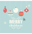 Merry Christmas postcard with balls decoration vector image