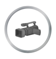 Camcorder icon in cartoon style isolated on white vector image