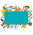 rusty frame with instruments vector image