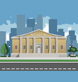 color depicting museum building with vector image