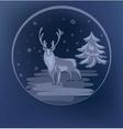 Christmas standing raindeer background vector image vector image