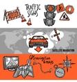 Navigation Banner Set vector image