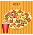 Big tasty pizza vector image