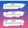 Quote Boxes and Brush Strokes vector image