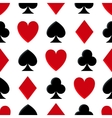 Casino poker seamless pattern vector image