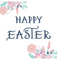 happy easter greeting card with hand drawn vector image