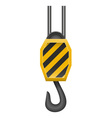 hook for lifting loads vector image